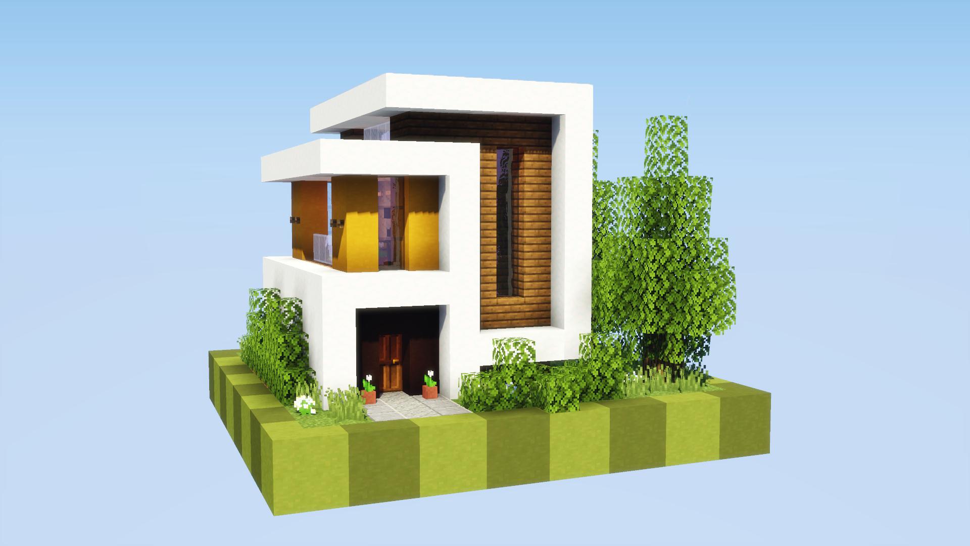 Petite maison moderne dans minecraft