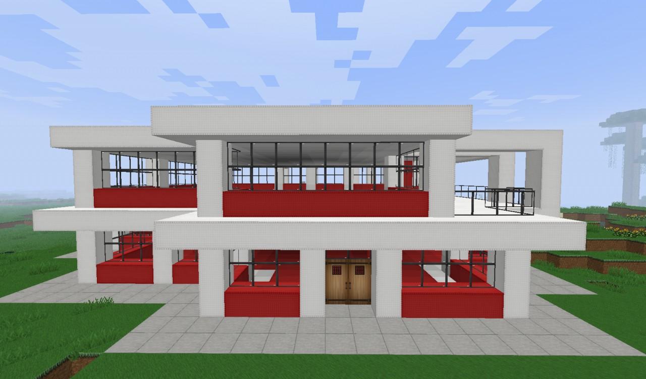 Restaurant moderne à Minecraft