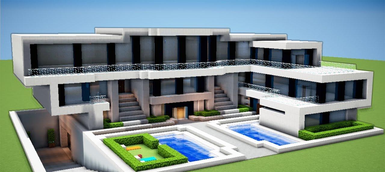 Maison moderne pour deux familles dans minecraft