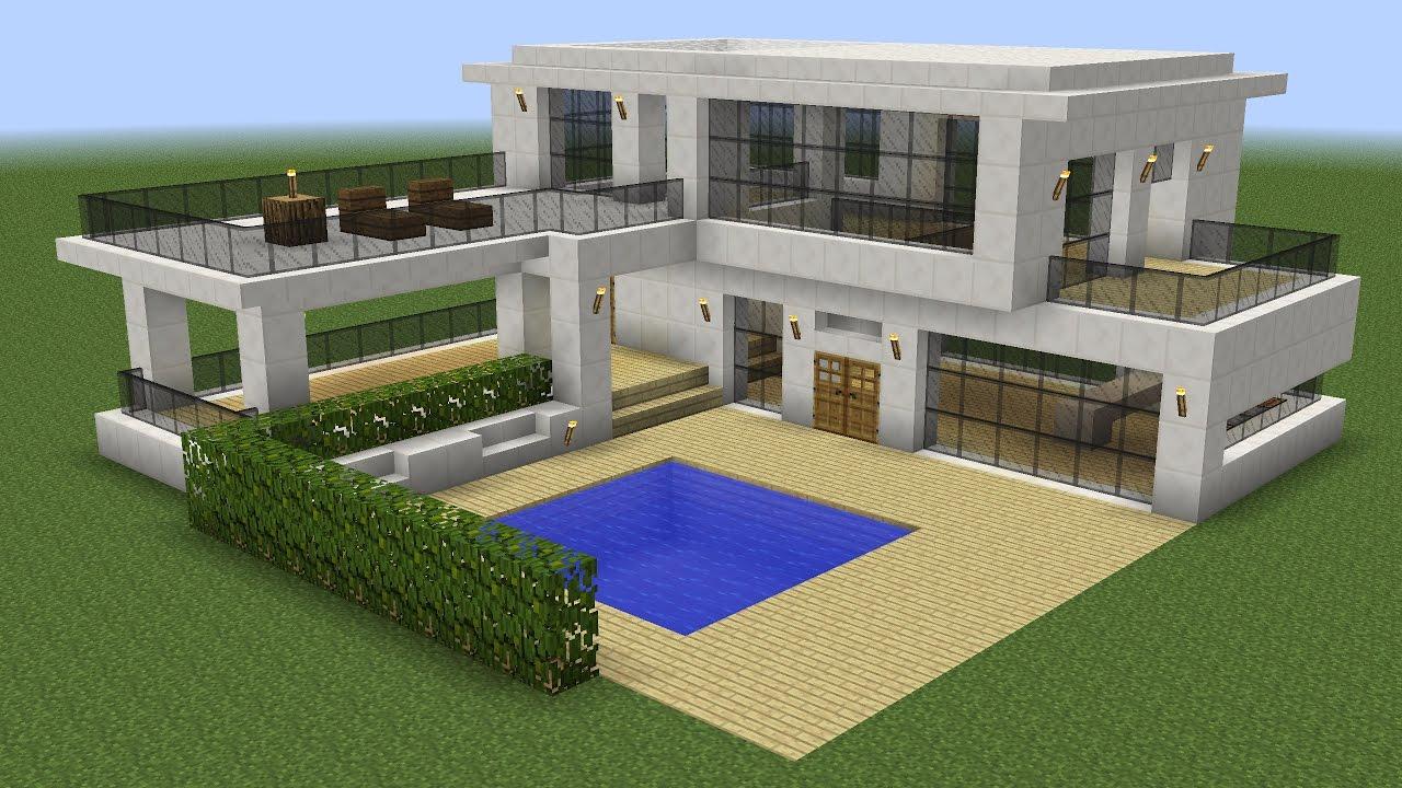 Maison moderne en quartz dans Minecraft