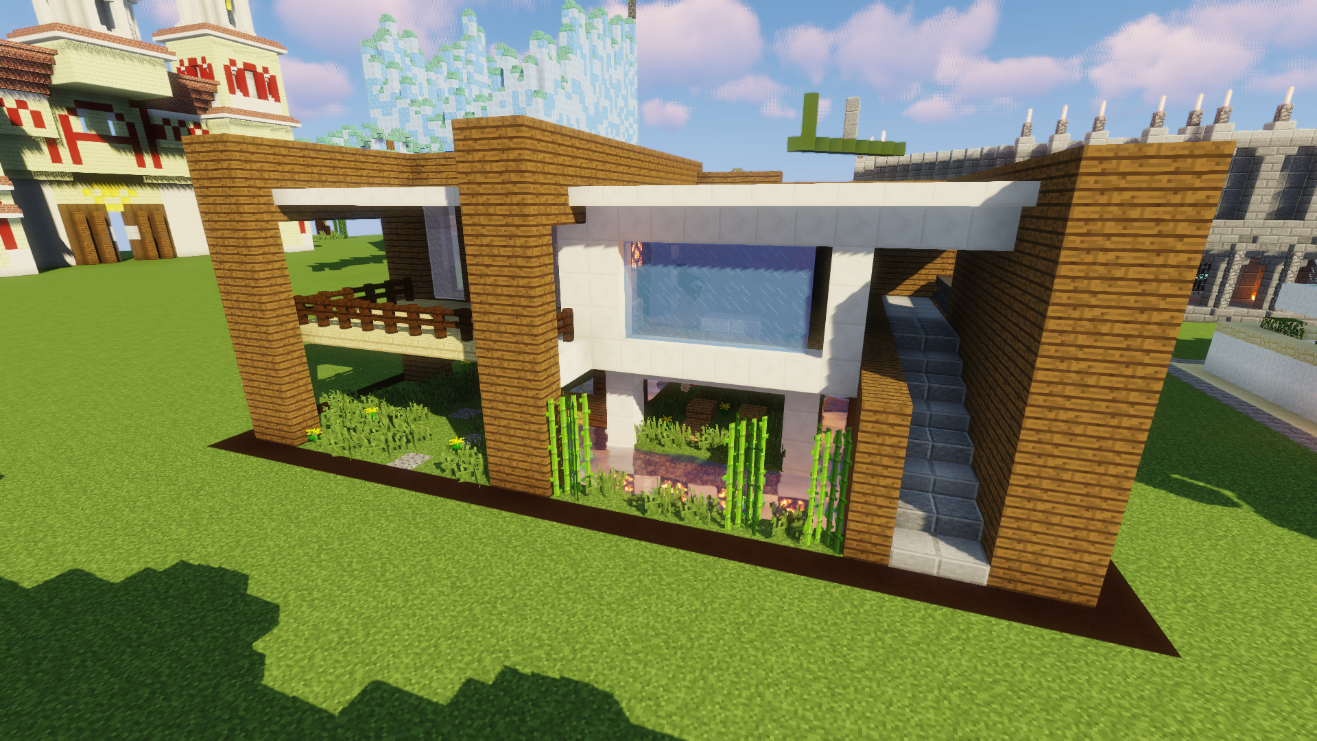 Construction D Une Maison Moderne A Minecraft Maison Zenidees