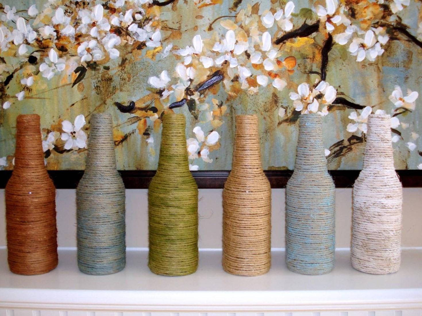 Bricolage maison sur Pinterest: bouteilles décoratives.
