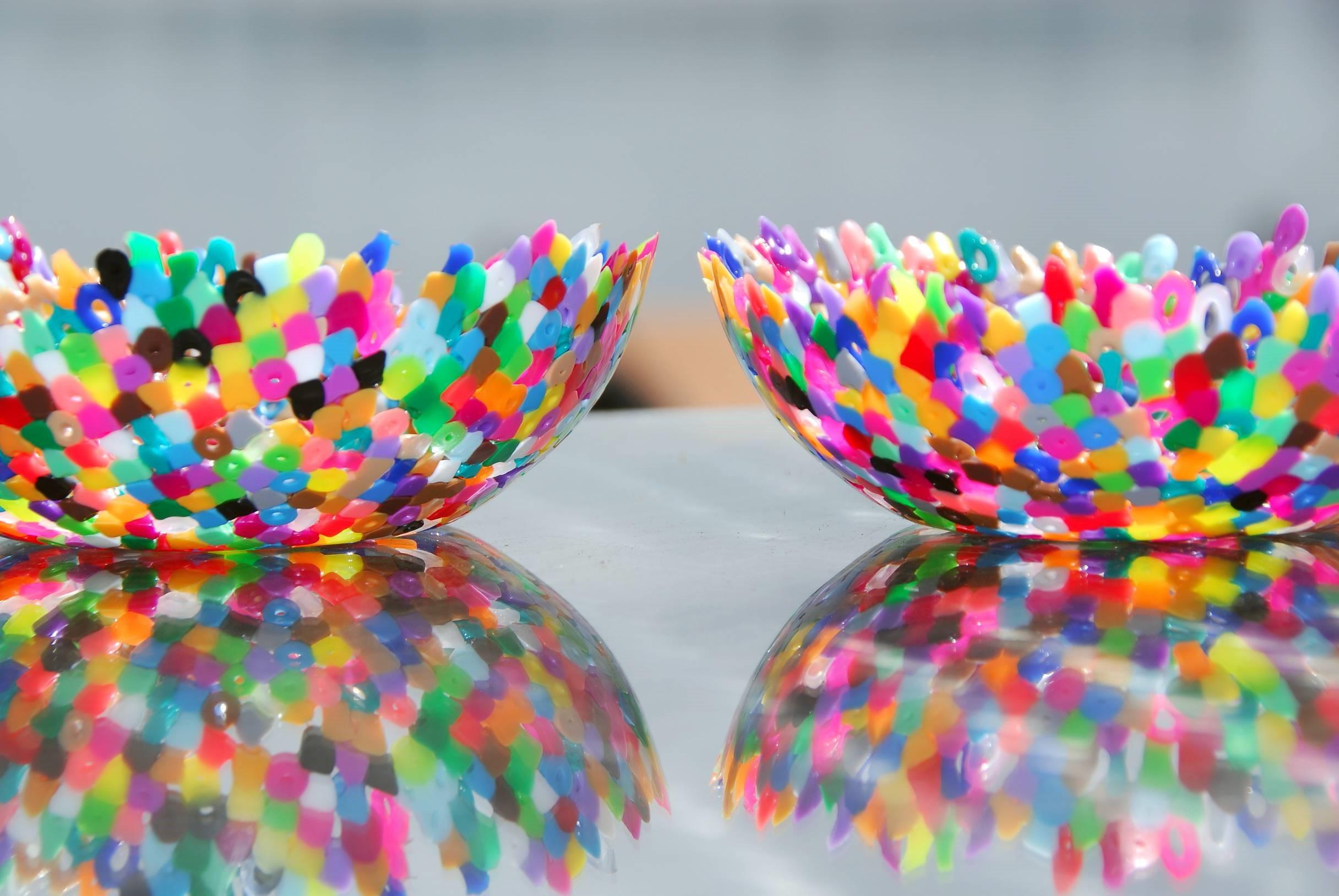 Bricolage maison sur Pinterest: bols décoratifs multicolores.