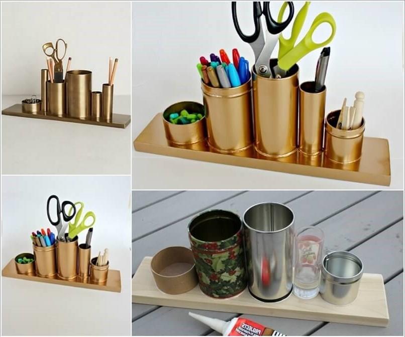 Bricolage maison sur Pinterest: organisateur de bureau facile à réaliser.