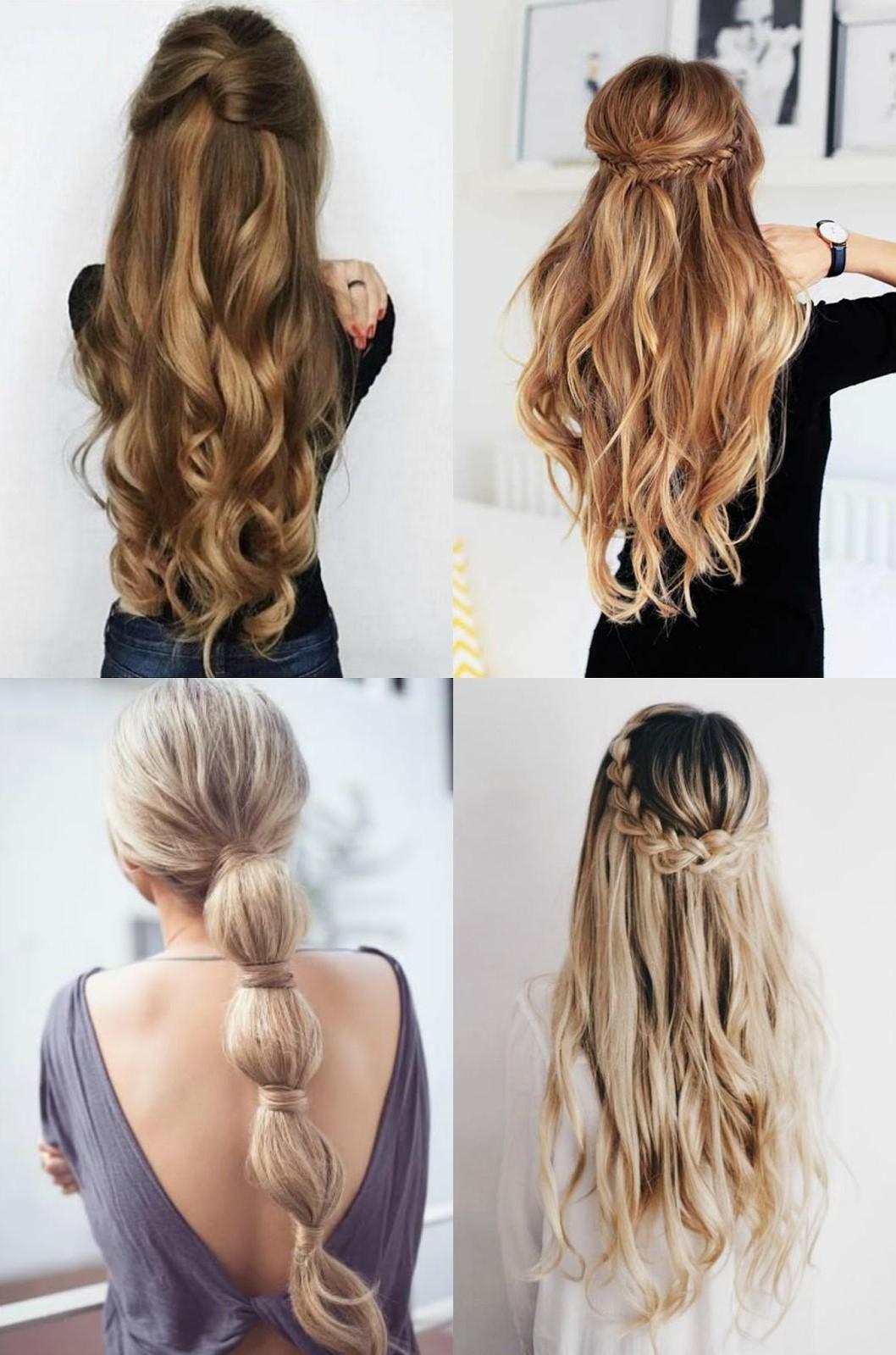 Idées de coiffures estivales.