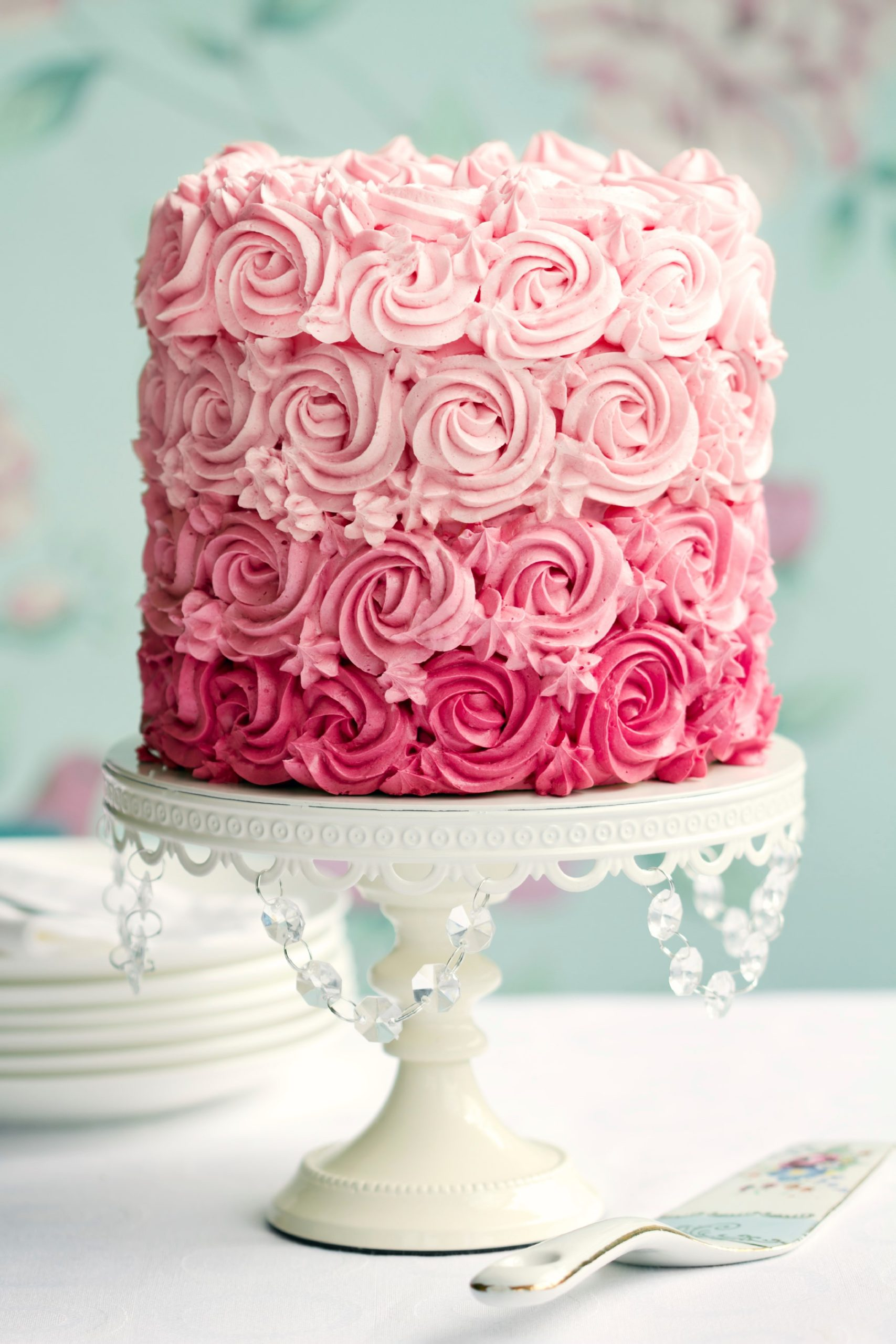 Gâteau ombré.