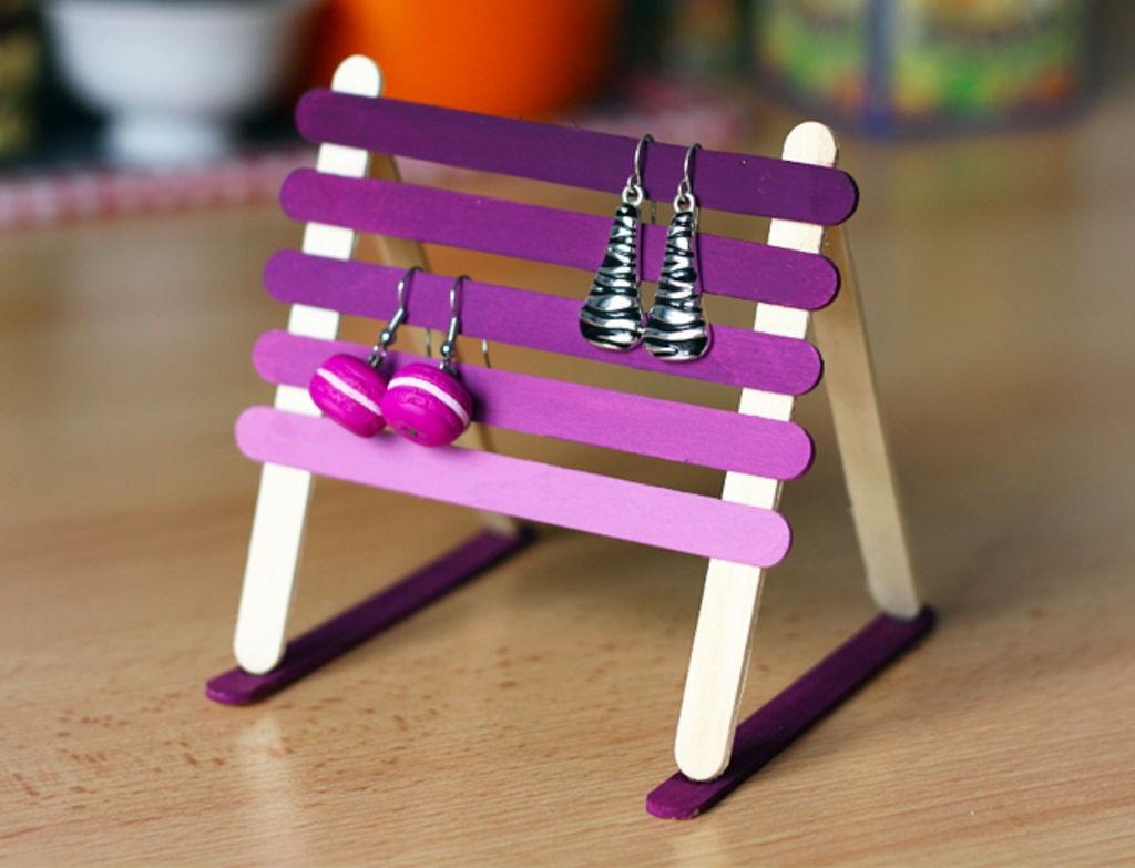 Boucles d'oreilles DIY.
