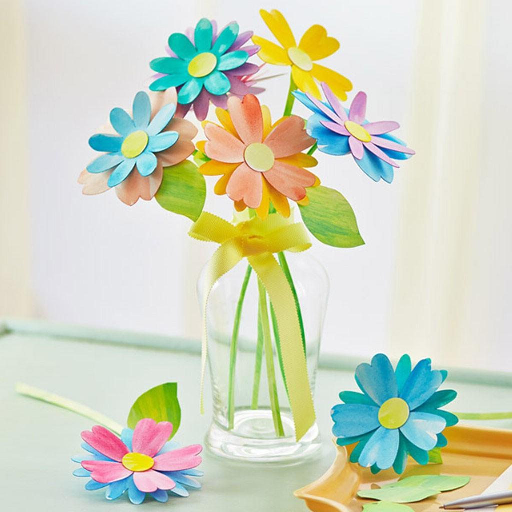 Bouquet de fleurs en papier.
