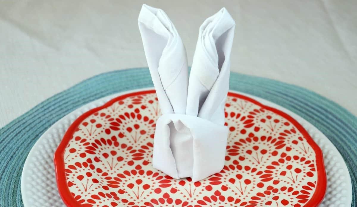 Lapin en serviette DIYl.