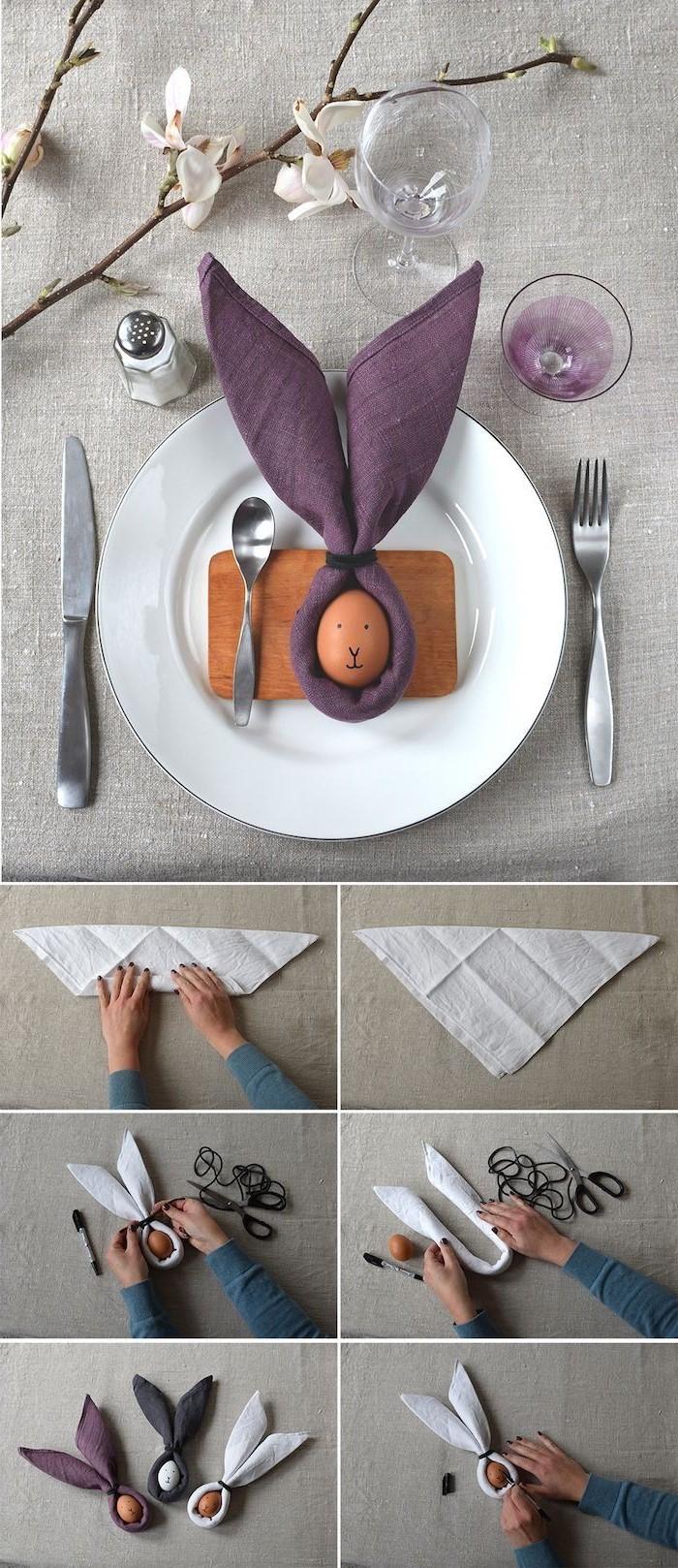 Oreilles de lapin faciles à réaliser.