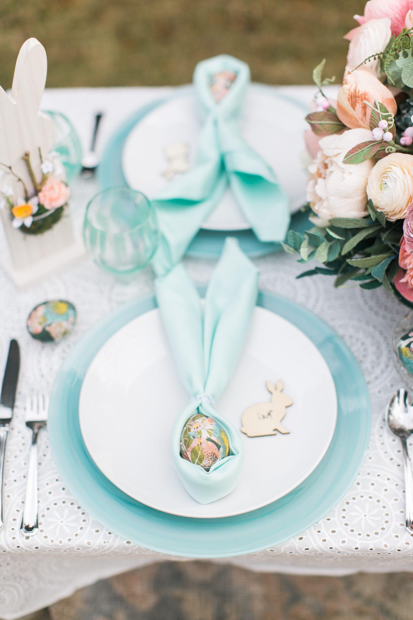 Décoration de table festive.