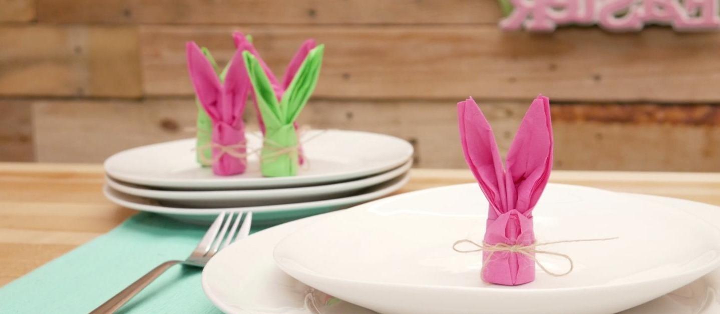 Oreilles de lapin multicolores.