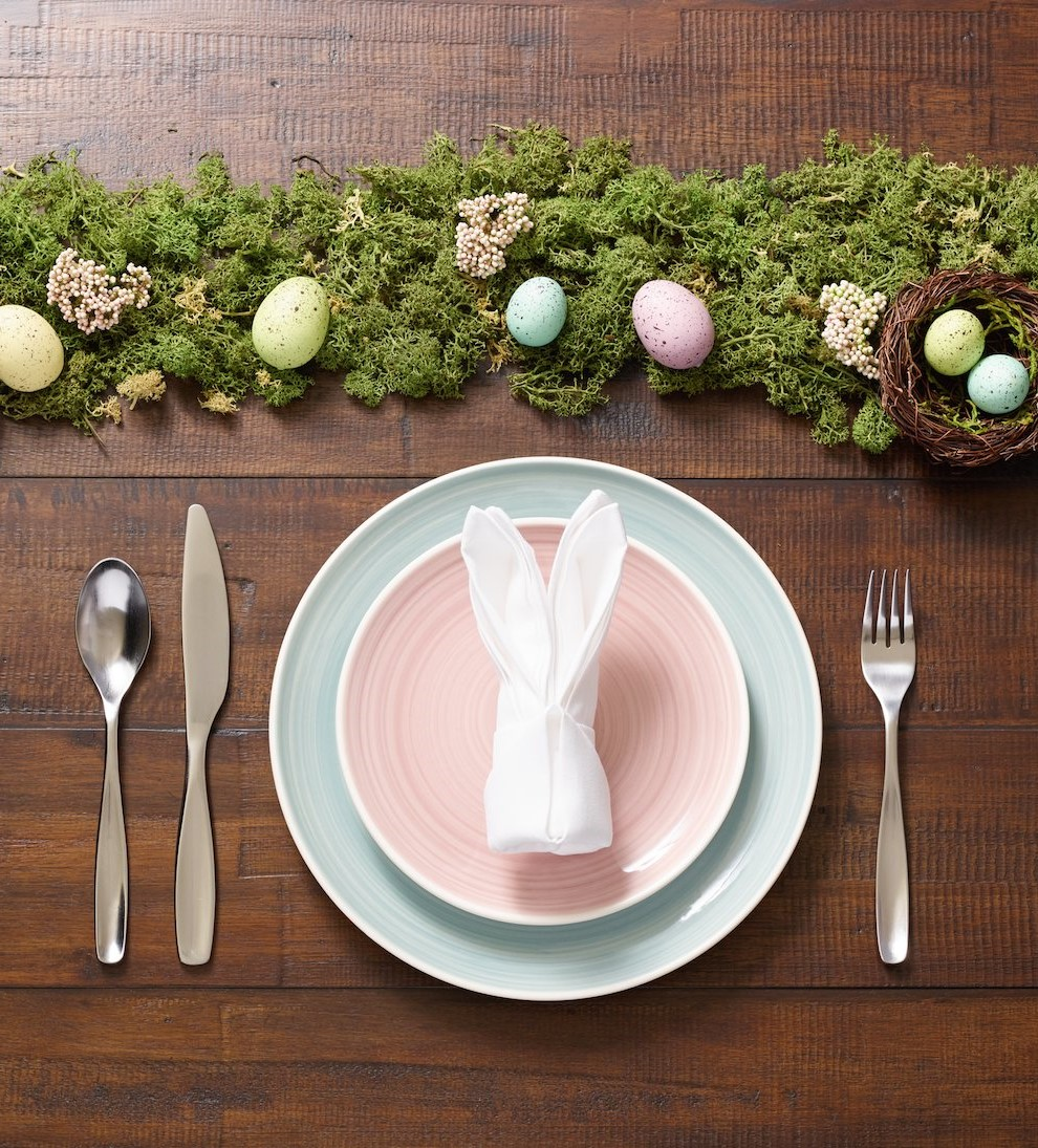 Décoration de table naturelle.