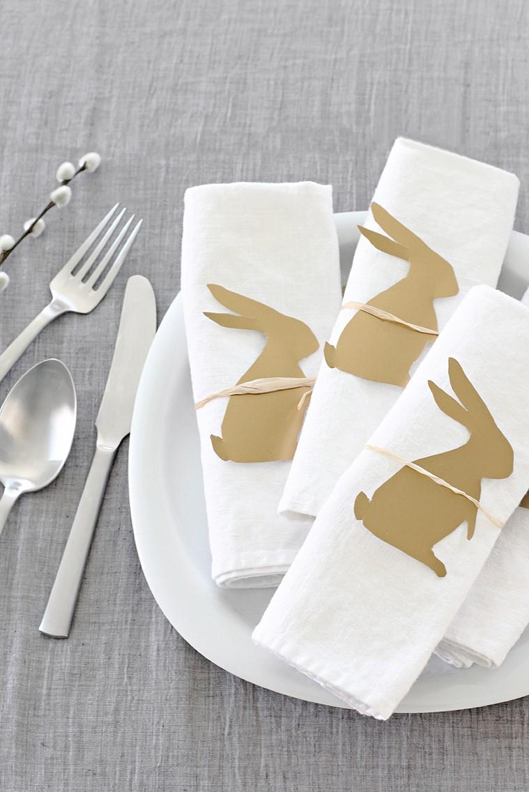 Serviettes festives pour votre table de Pâques.