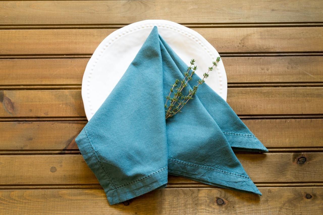Pliage de serviette simple.