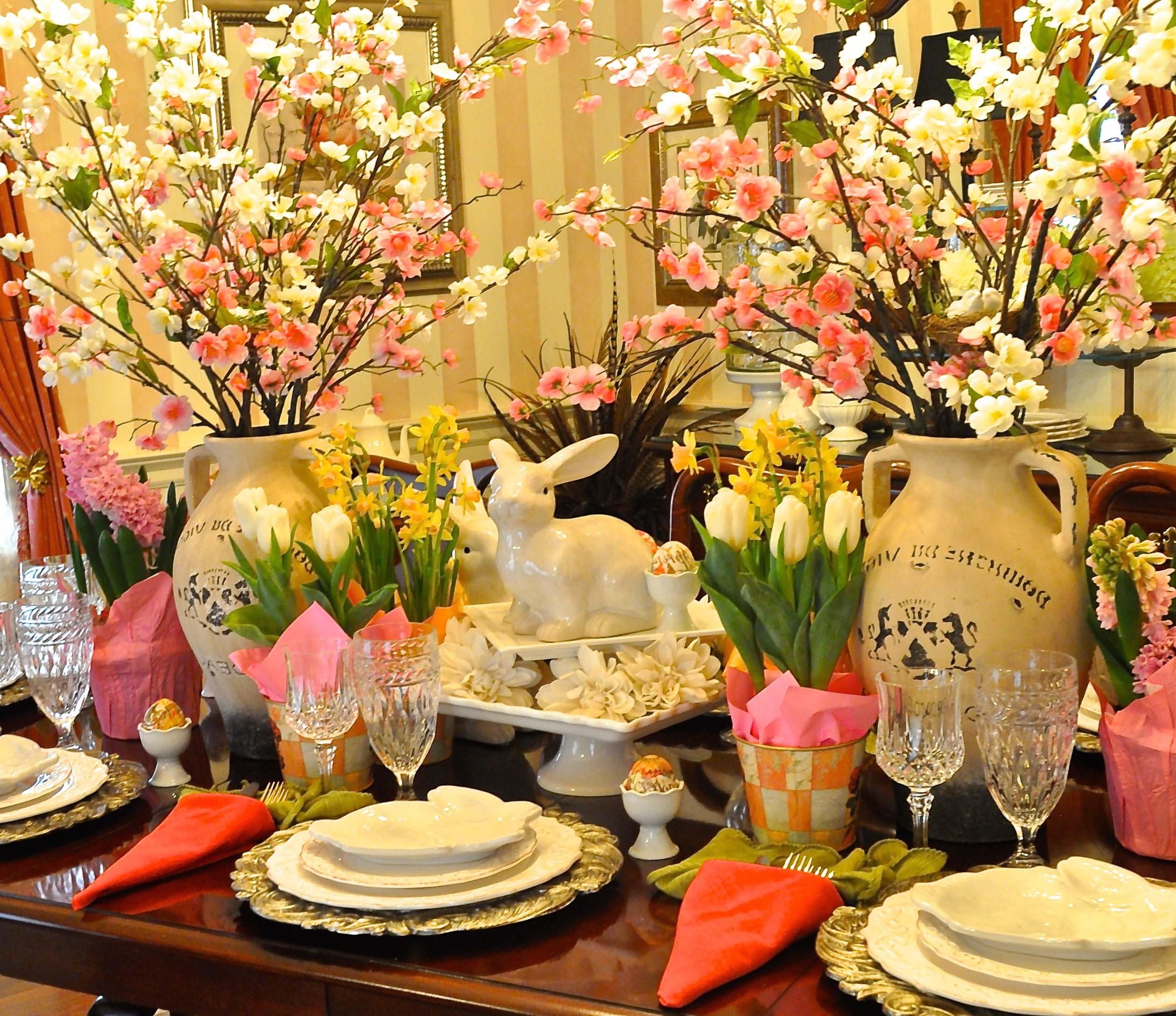 Idée déco de table de Pâques.