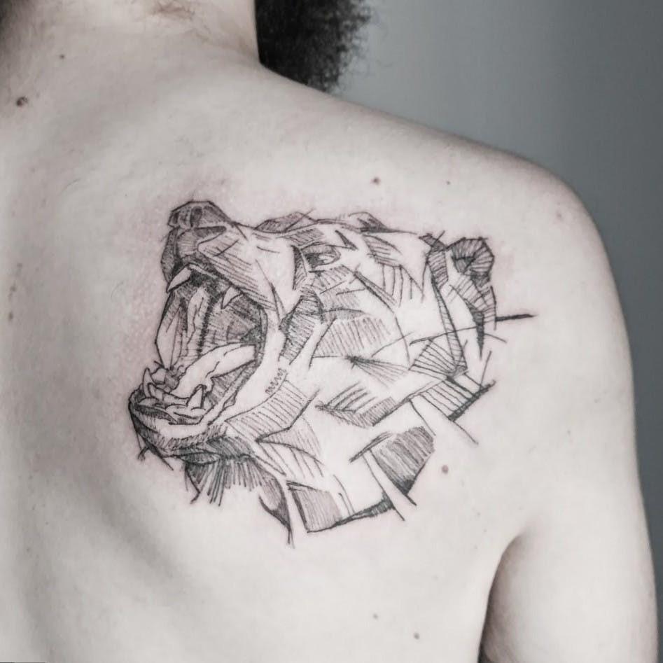 Dans la mythologie gréco-romaine, l'ours est représenté par Diane / Artémis, déesse de la chasse.
