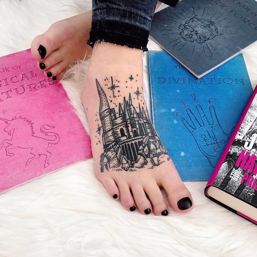 Tatouage pour les fans de Harry Potter.