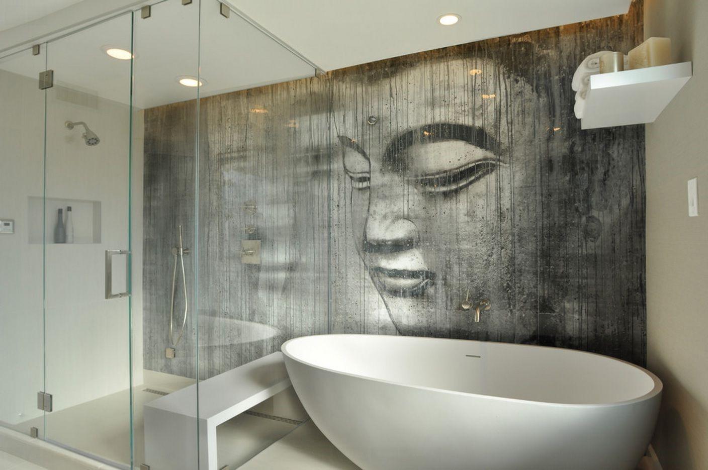 Papier peint à thème Bouddha.