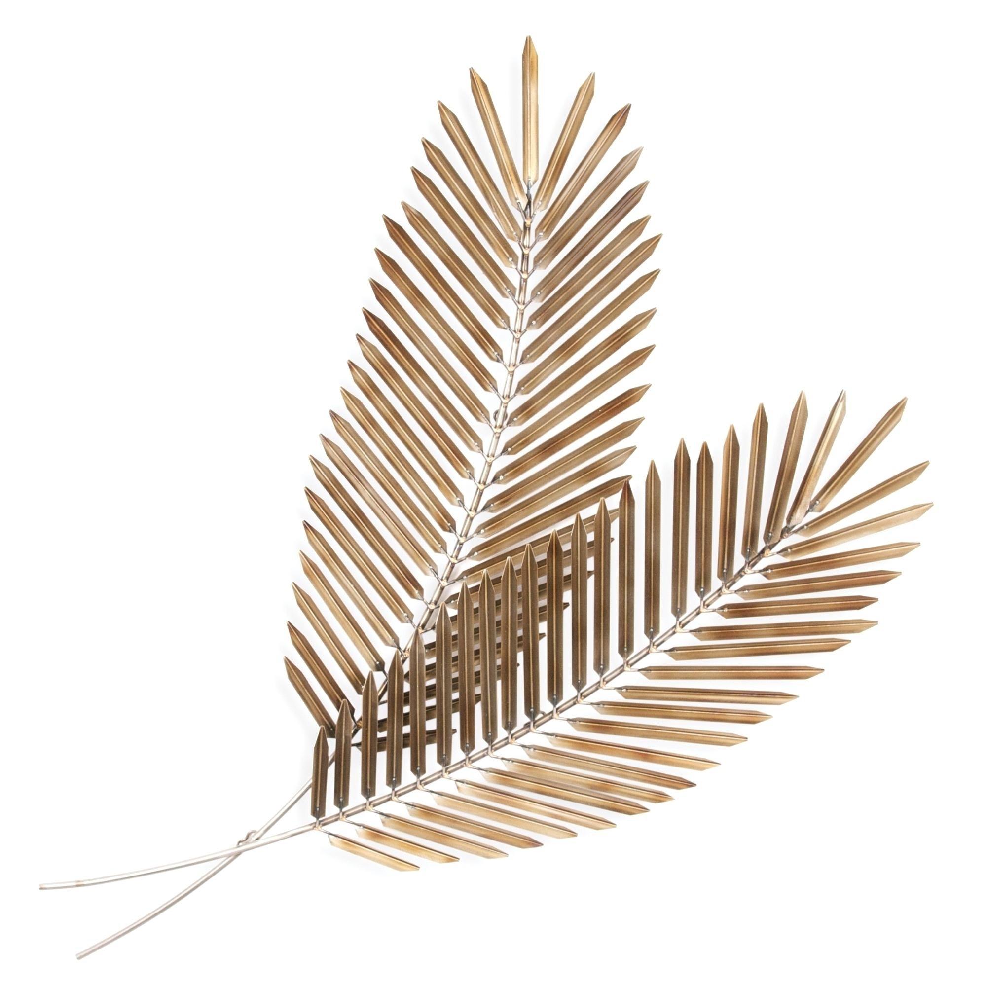Feuille de palmier doré.