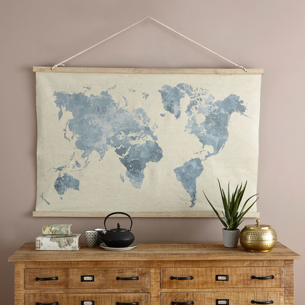 Carte du monde vintage pour votre mur.