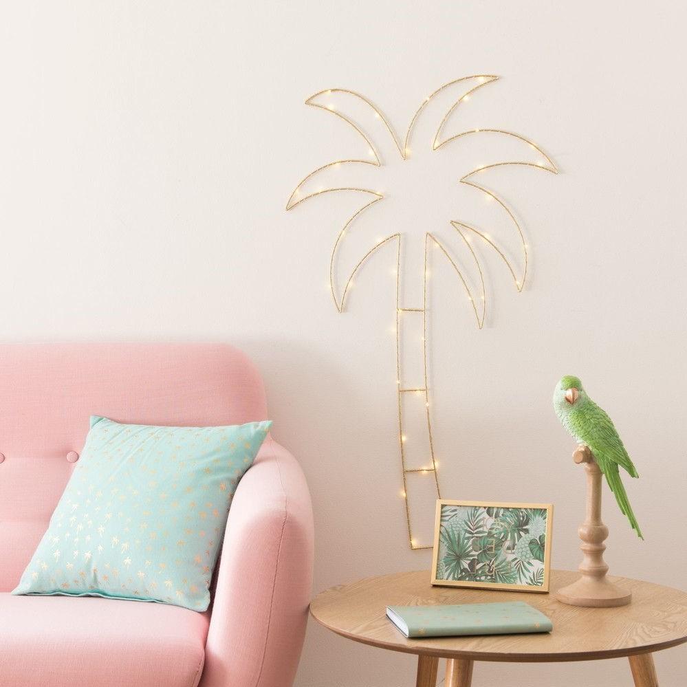 Palmier lumineux qui donne une sensation d'été pendant toute l'année.