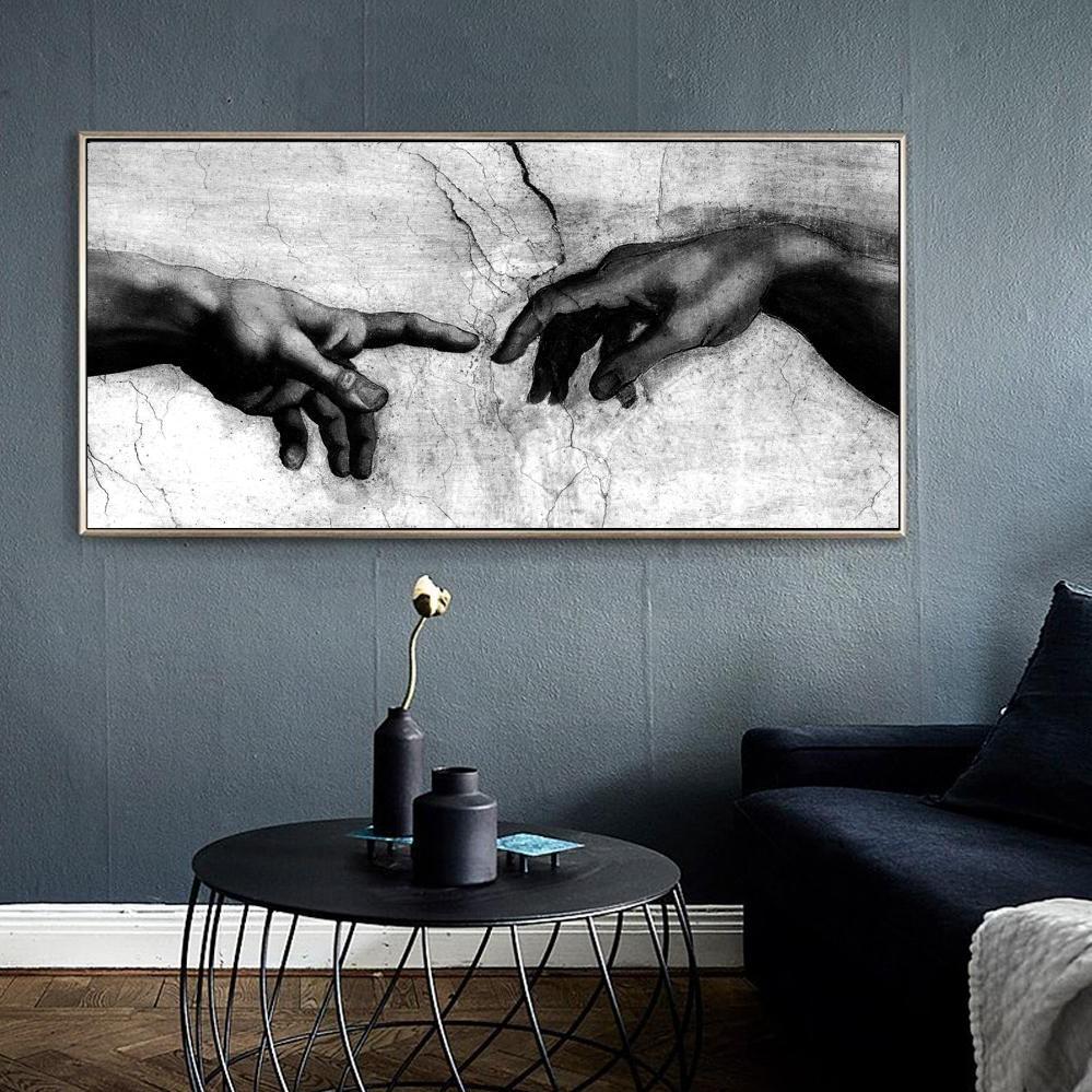 Peinture noir et blanc.