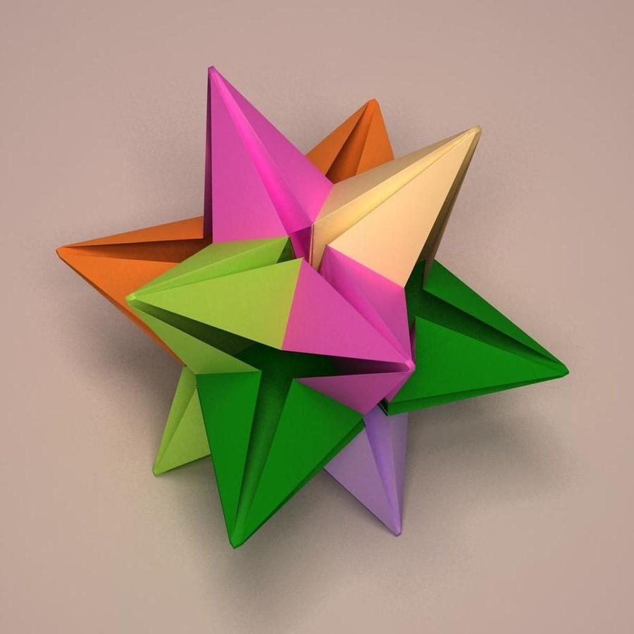 Origami multicolore.