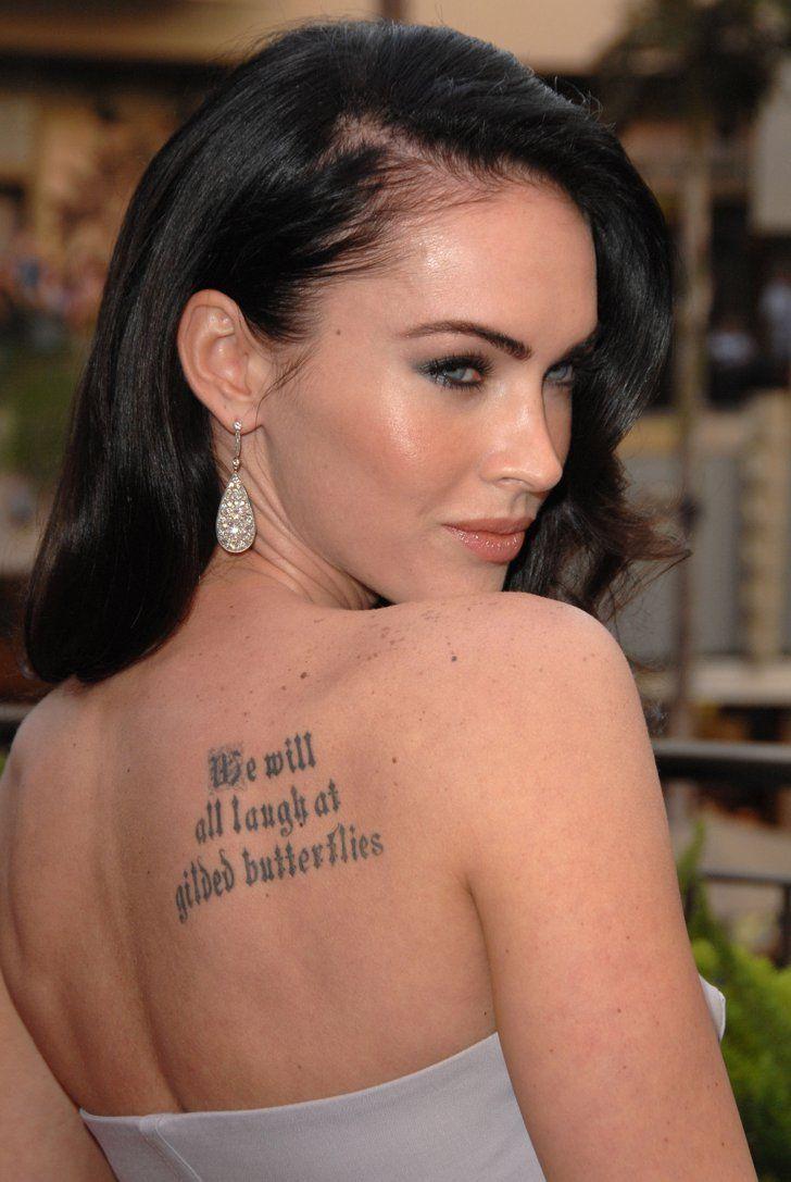 Megan Fox est également célèbre avec ses tatouages.