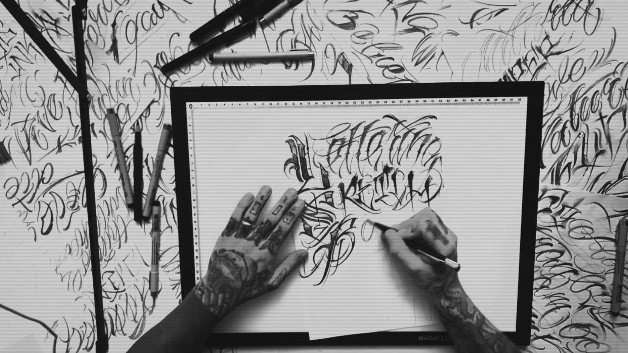 Lettrage de tatouage.