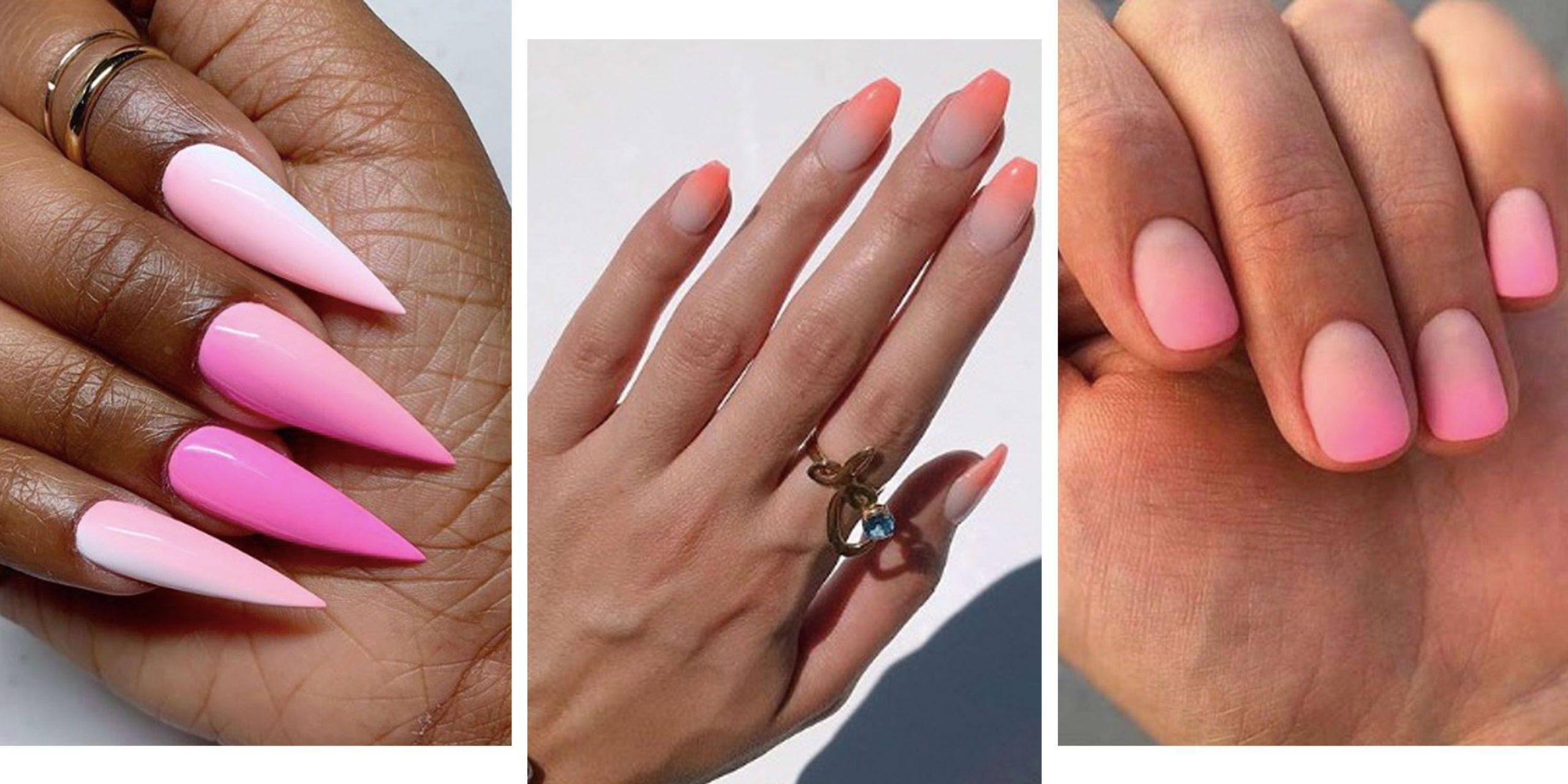 Nailr art rose qui est tout simplement parfait pour l'été.