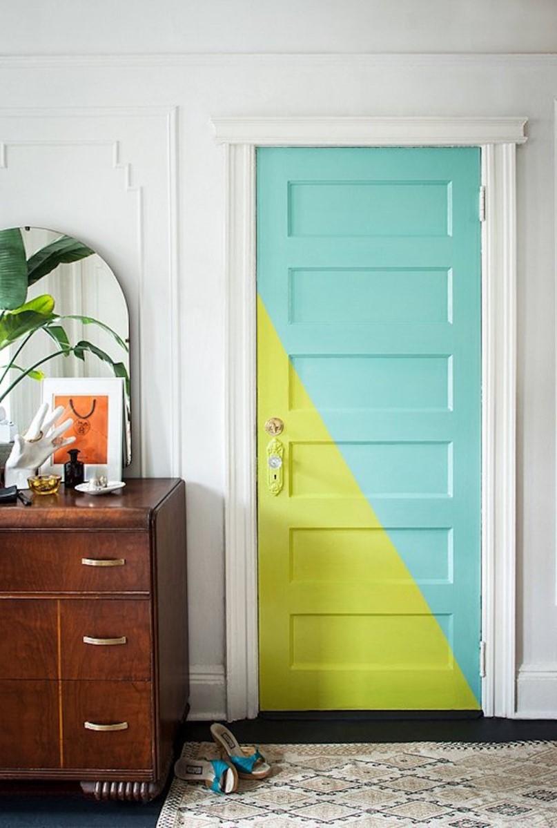 Idées bricolage sur Pinterest français: transformez votre porte ennuyeuse en quelque chose de spécial.