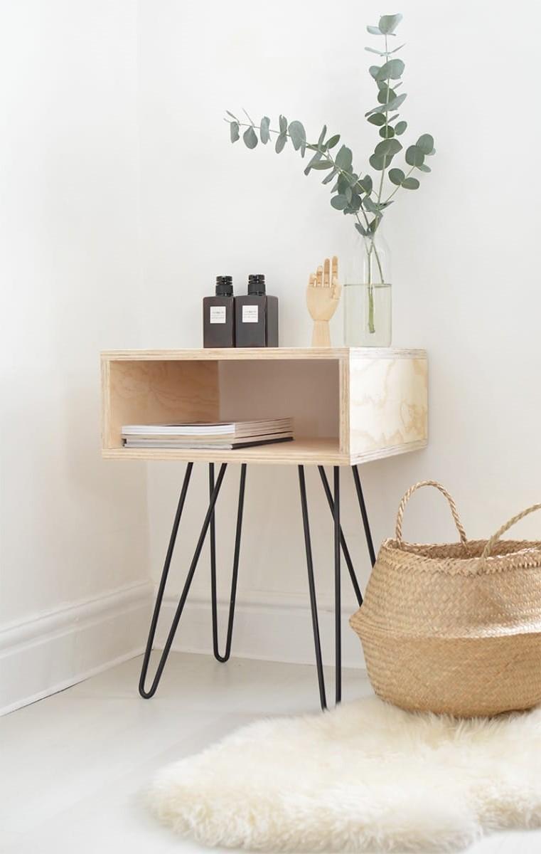 Table de chevet bricolage sur Pinterest français.