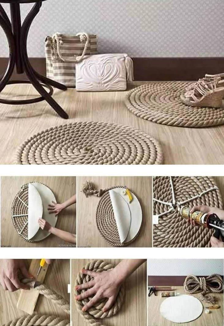 Idées bricolage sur Pinterest français: tapis de corde bon marché.