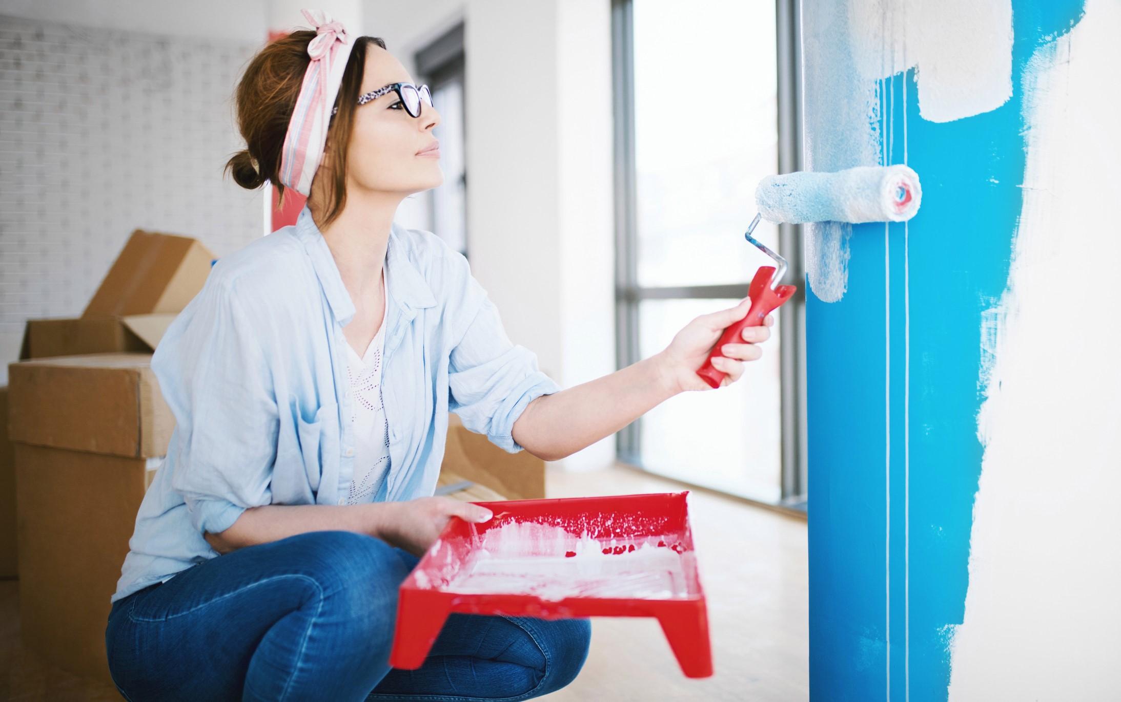 Un simple projet de bricolage: changez la couleur de vos murs.