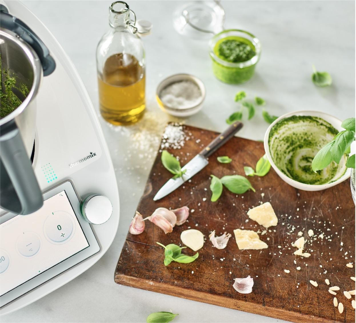 Pesto genovese préparé au Thermomix.
