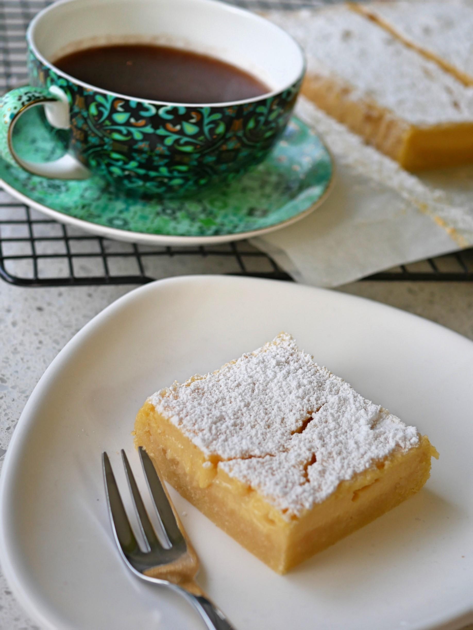 Recettes Vorwerk: gâteau recouvert de crème anglaise.