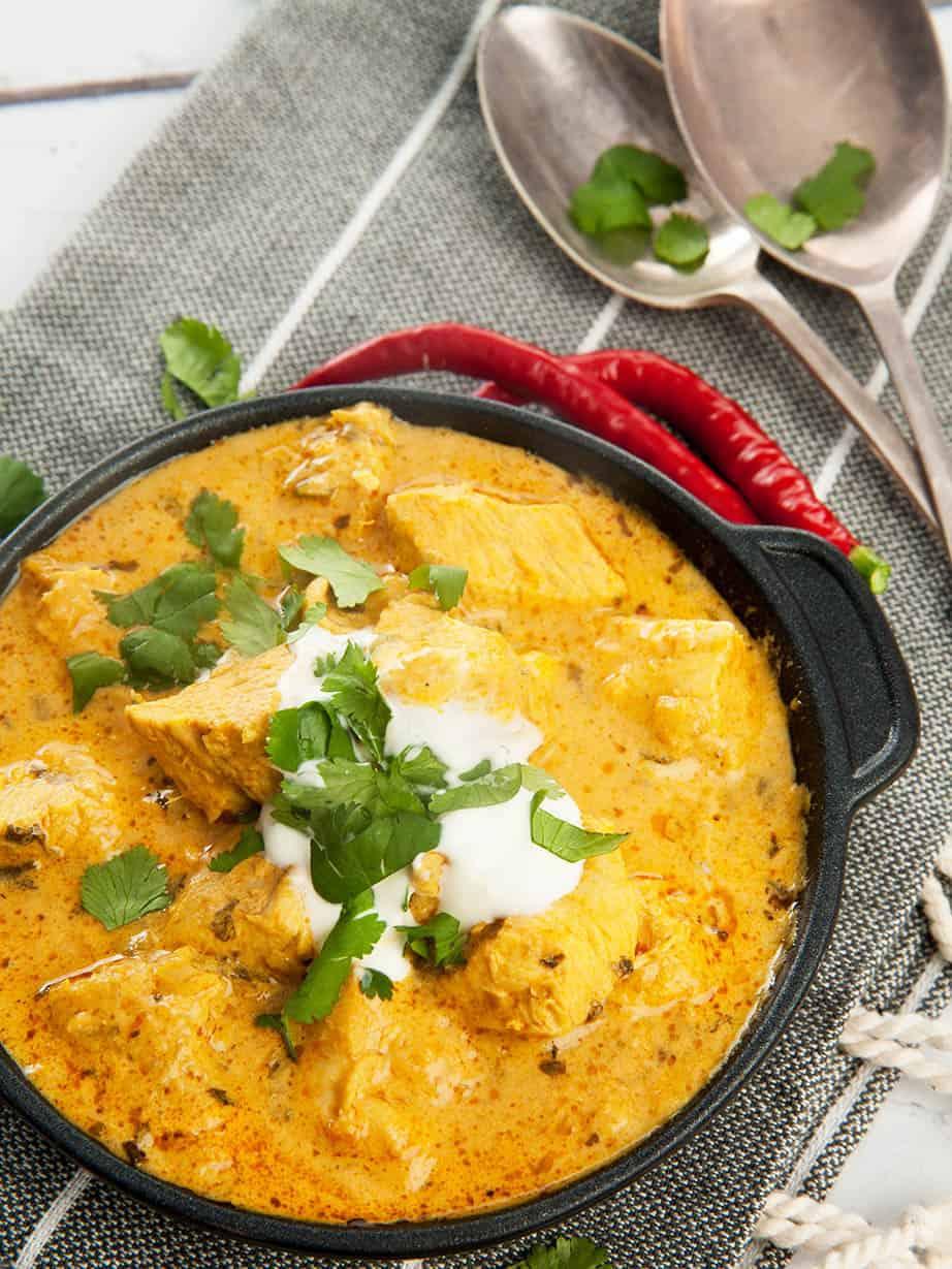 Poulet au curry.