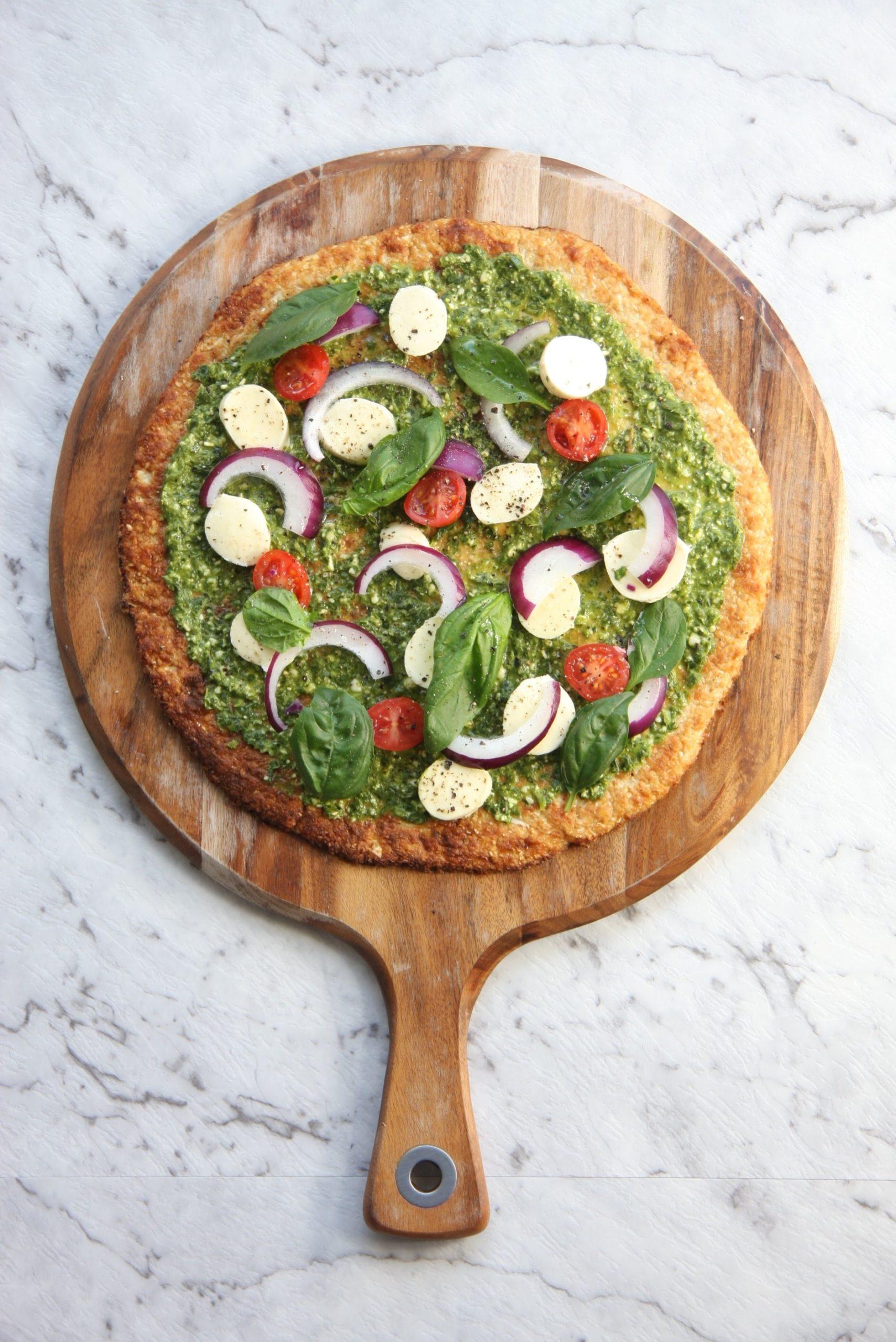 Pizza végétarienne hypocalorique.