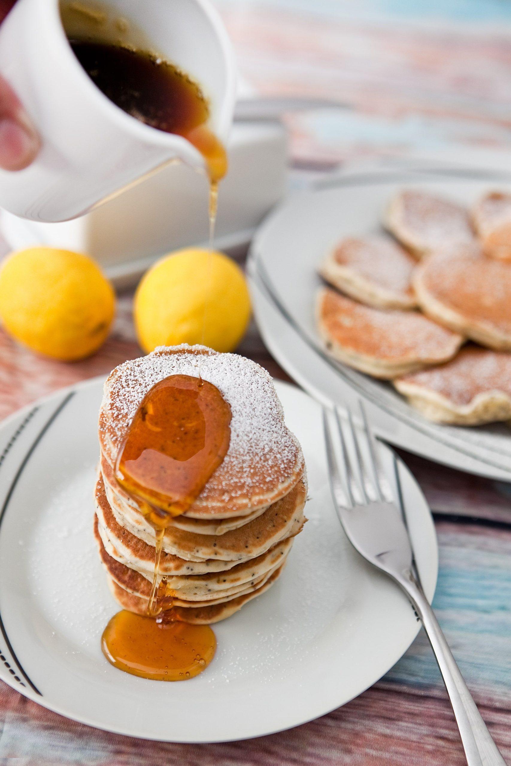 Recette Vorwerk: crêpes américaines au miel.