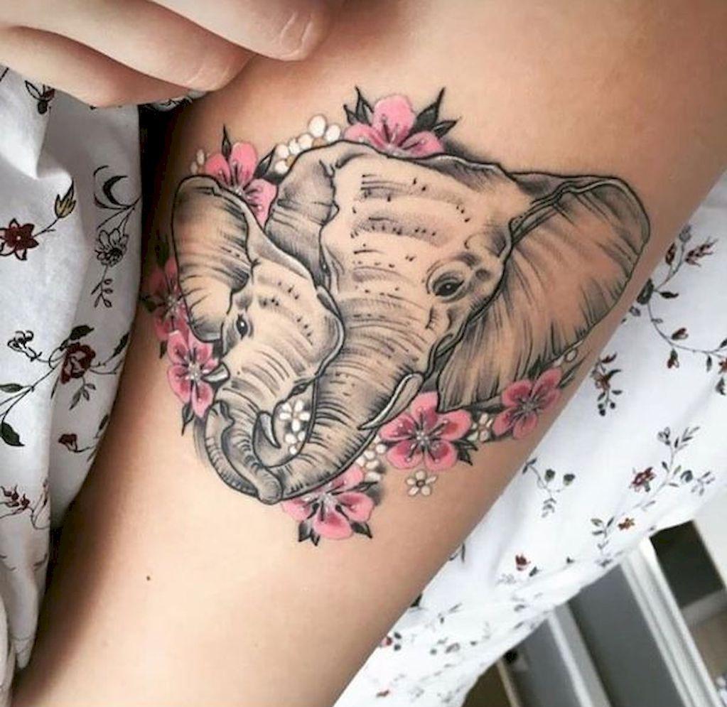 Une idée vraiment mignonne: mère et bébé éléphants.
