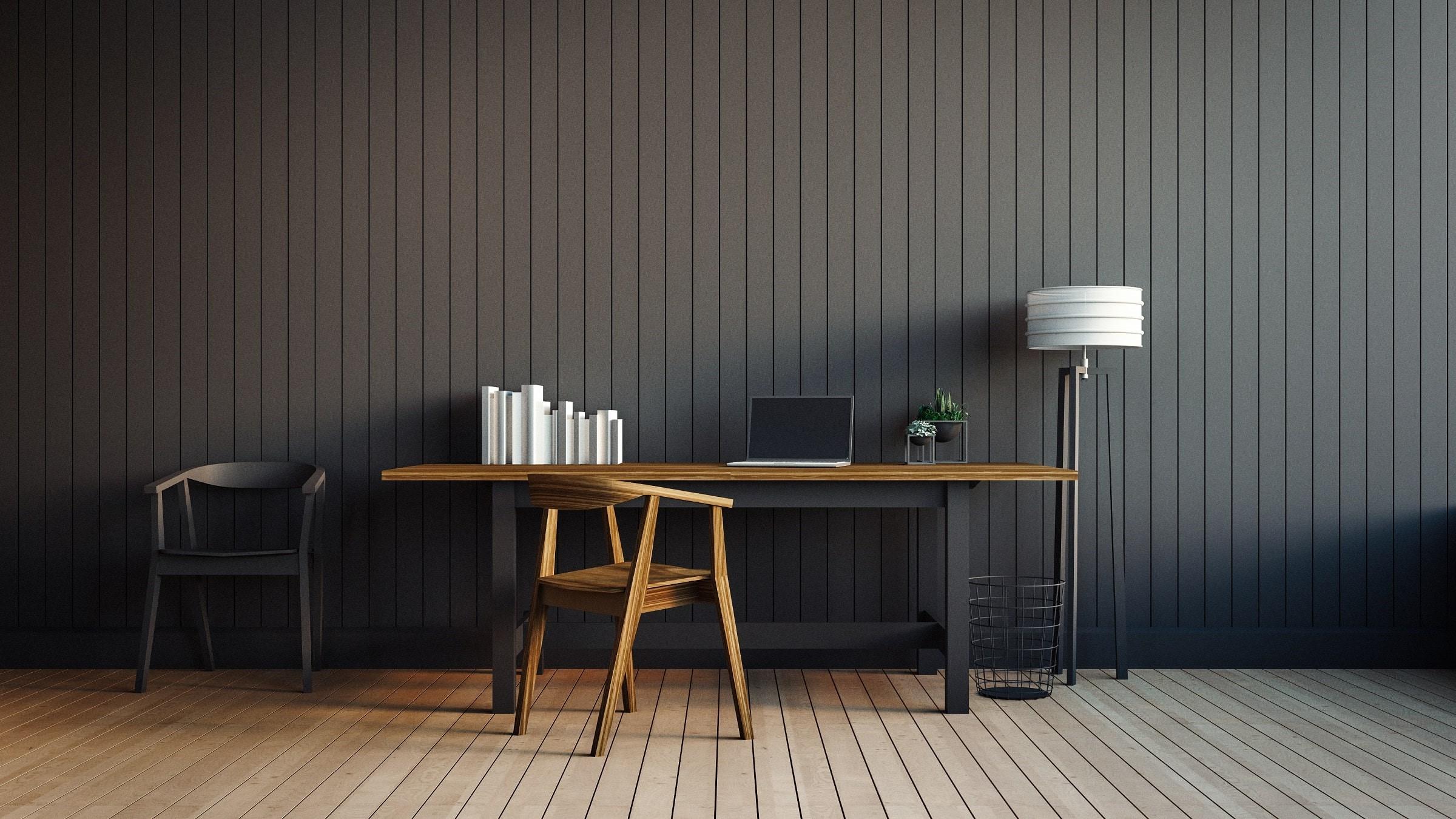 Tendances parquet en 2020: Créez un contraste entre le plancher et la couleur des murs.