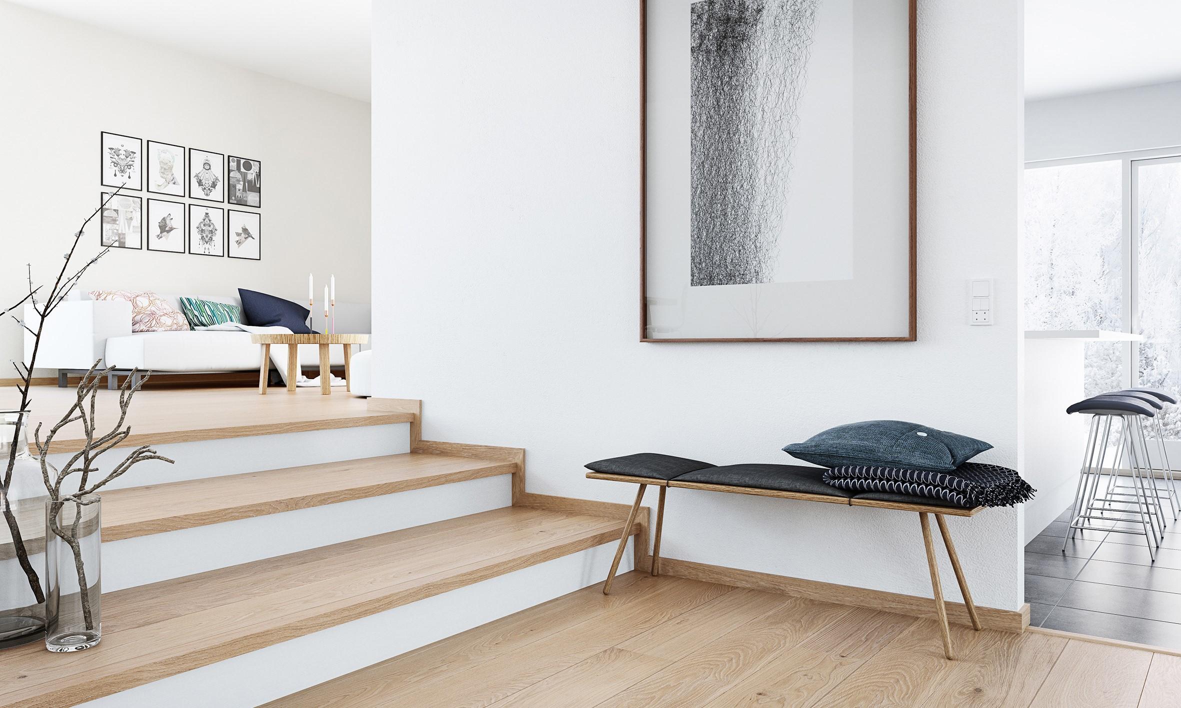 Plancher en bois classique.