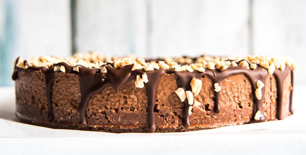 Superbe gâteau au chocolat.