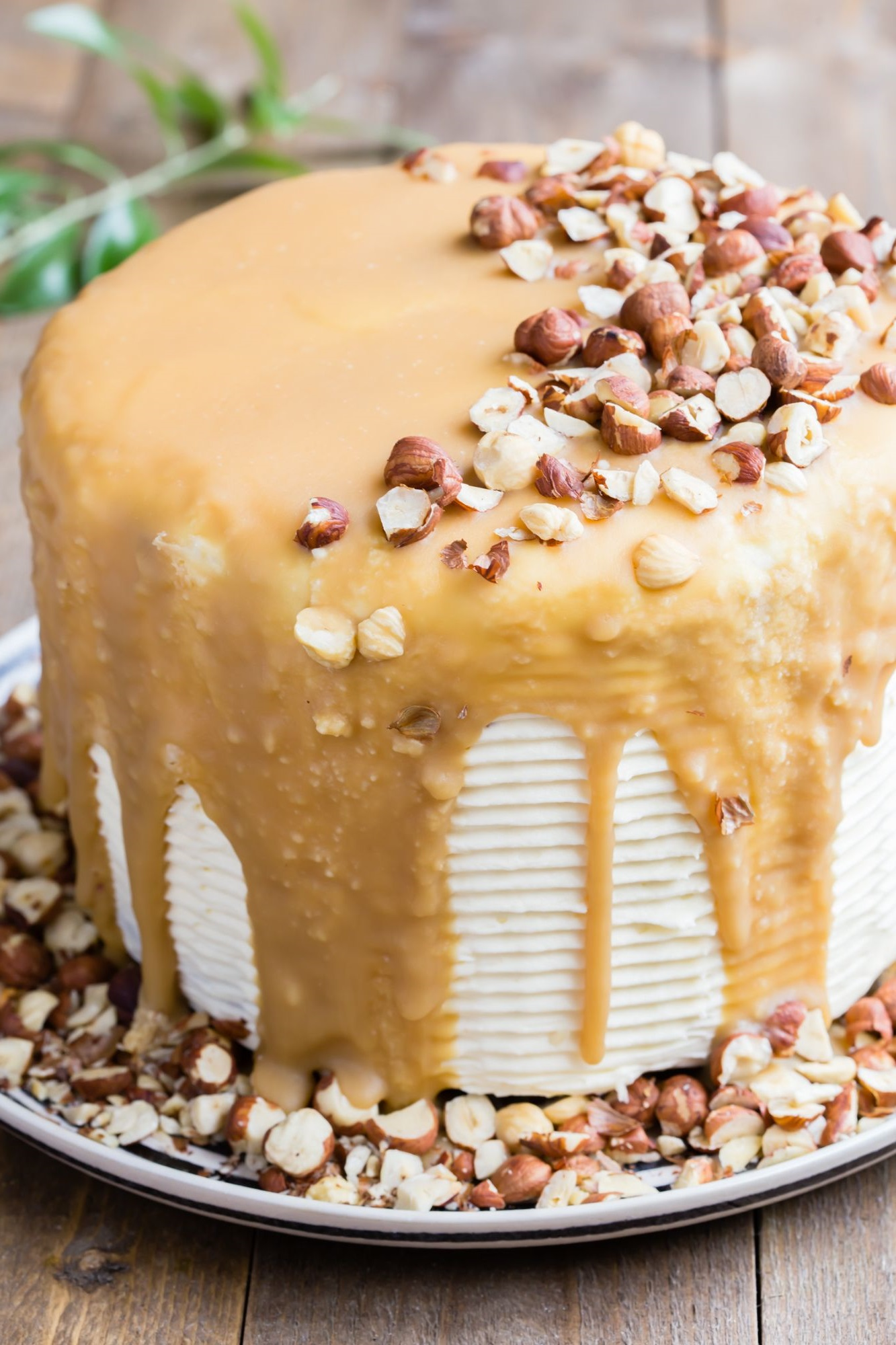 Gâteau aux noisettes.
