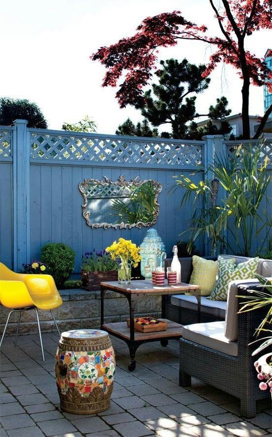 Ajoutez un peu de couleur à votre balcon.