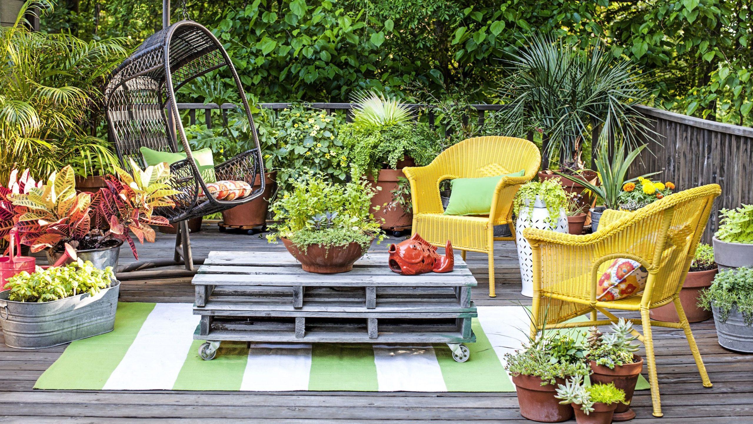 Avoir un grand balcon vous offre un large choix de solutions.