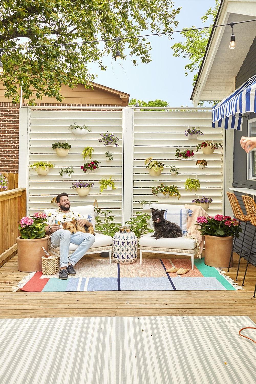 Brise-vue pour balcon DIY.