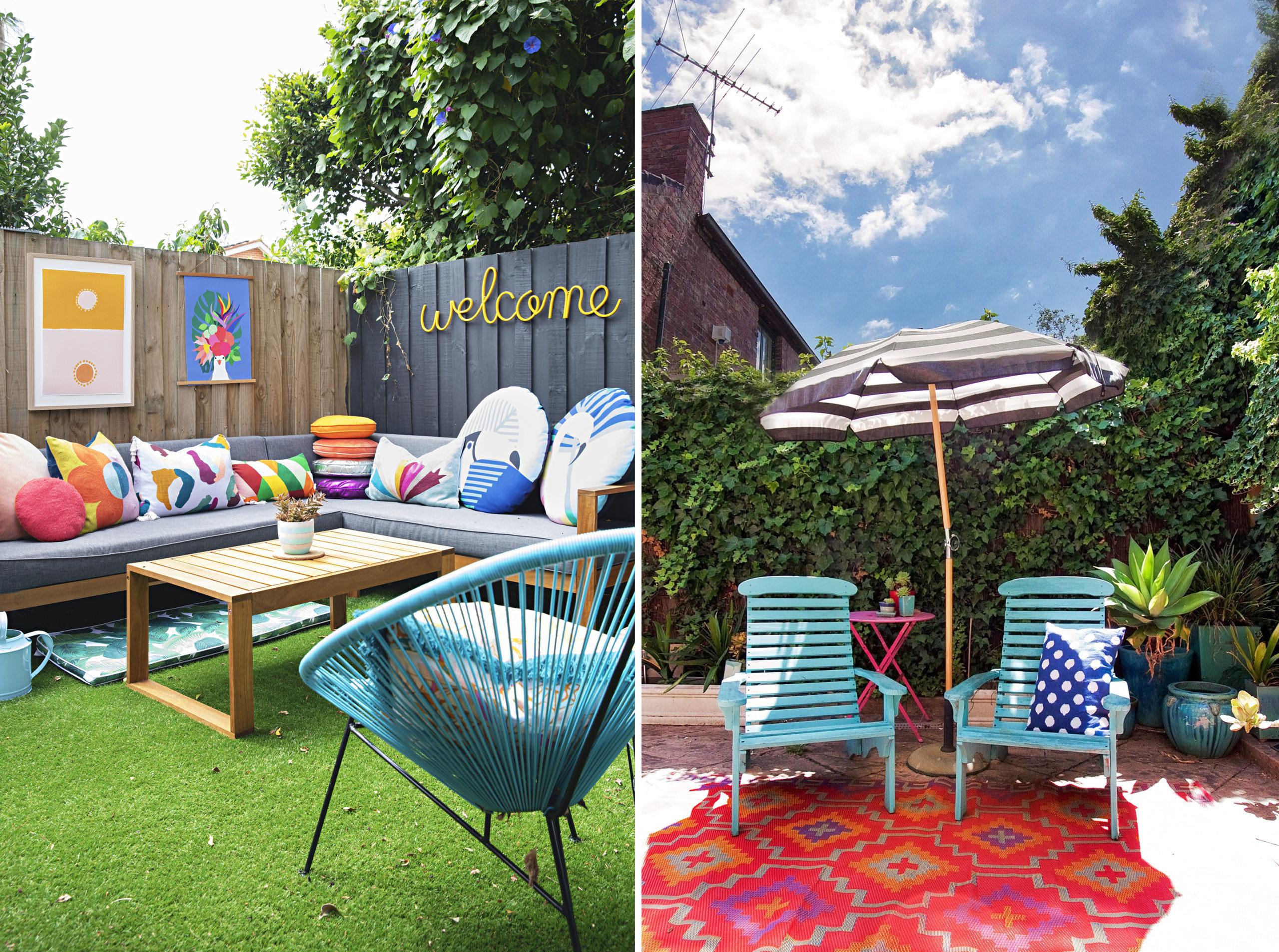 Pour rendre votre balcon encore plus confortable, ajoutez un tapis extérieur ou du gazon synthétique.