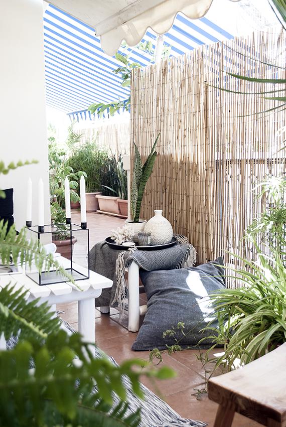 Brise-vent en bambou.